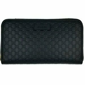 Gucci Guccissima Leather Continental Clutch Wallet